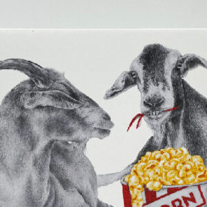 Central & Gus© Salt & Bale Sheridan Goat Notecard